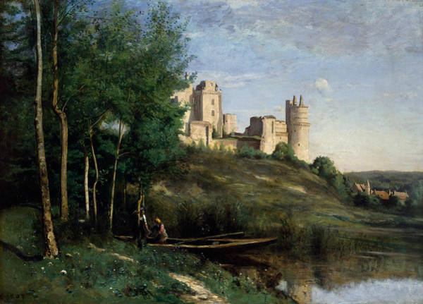 Painting - Ruins Of The Chateau De Pierrefonds by Jean-Baptiste-Camille Corot