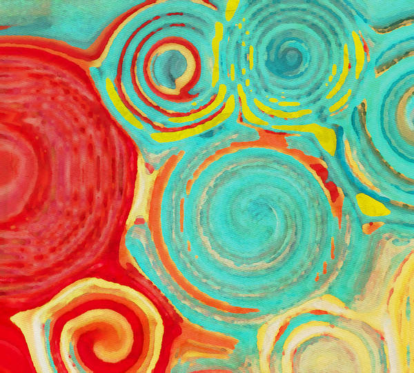 Wall Art - Painting - Running In Circles by Bonnie Bruno