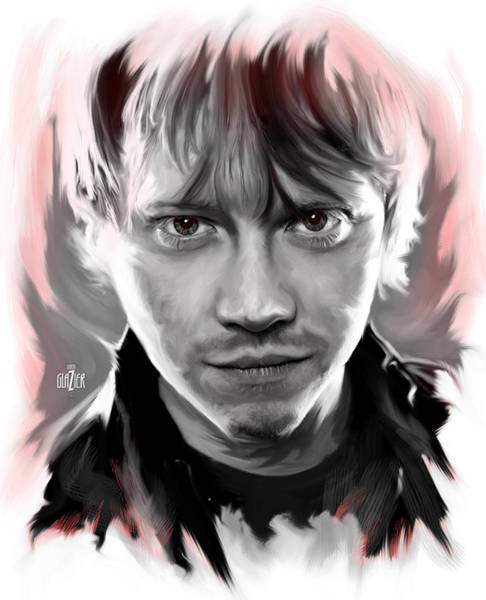 Wall Art - Digital Art - Rupert Grint As Ronald Weasley by Garth Glazier