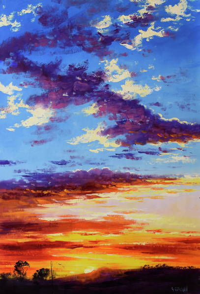 Wall Art - Painting - Rural Sunset by Graham Gercken