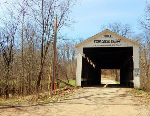 Photograph - Rush Creek Covered Bridge by Tina M Wenger