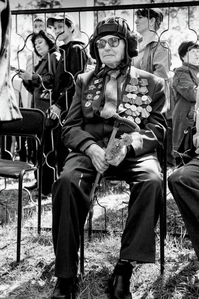 Photograph - Russian World War II Veteran Tank Commander by John Williams