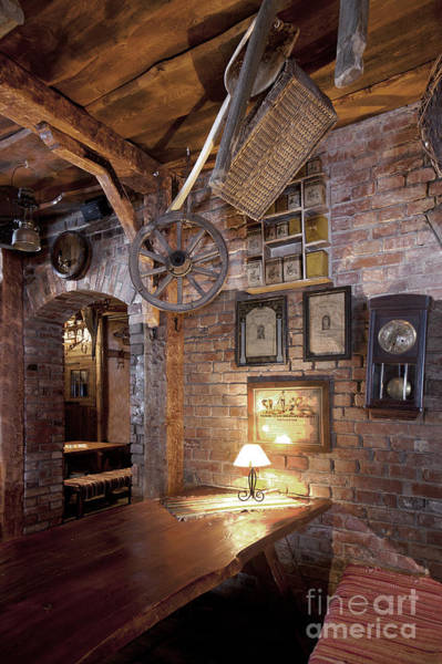 Rustic Furniture Photograph - Rustic Restaurant Seating by Jaak Nilson