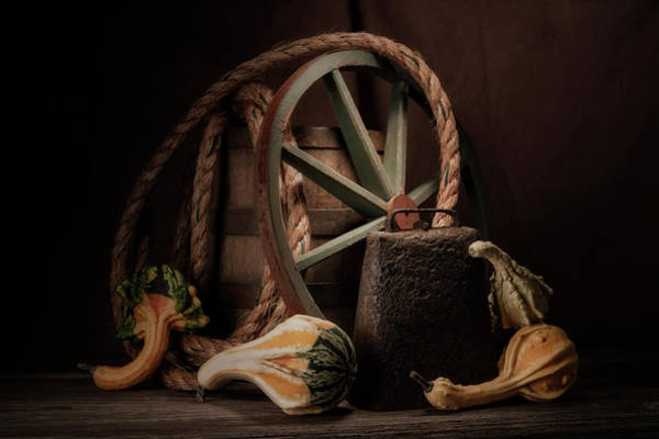 Gourd Photograph - Rustic Still Life by Tom Mc Nemar