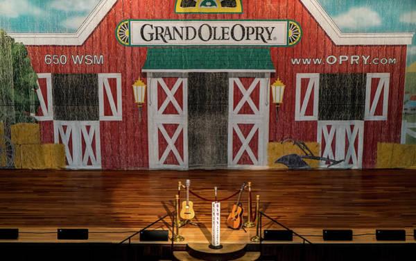 Photograph - Ryman Opry Stage by Glenn DiPaola