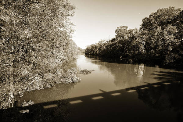 Photograph - Sabine River Near Big Sandy Texas Photograph Fine Art Print 4112 by M K Miller