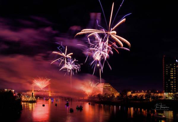Photograph - Sacramento Fireworks 3 by Jim Thompson