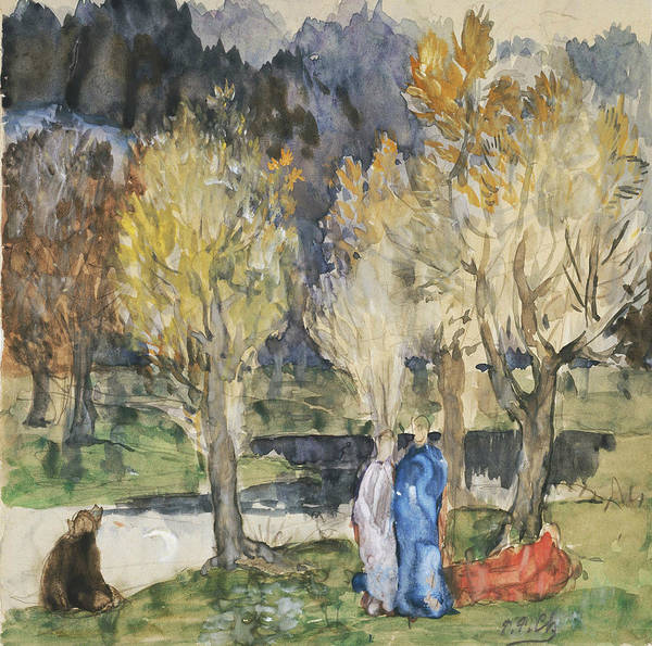 Painting - Sacred Grove by Pierre Puvis de Chavannes