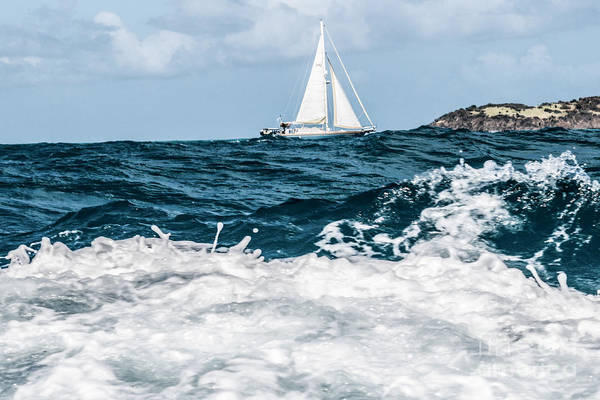 Photograph - Sailboat And High Seas - Pilllsbury Sound by Thomas Marchessault