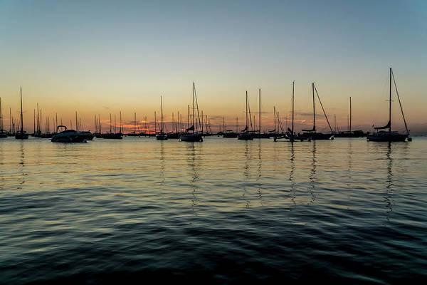 Photograph - Sailboats At Sunrise  by Sven Brogren