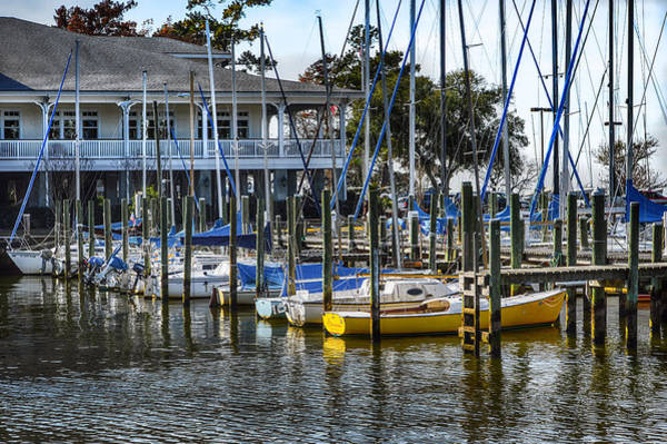 Photograph - Sailboats At The Fairhope Yacht Club by Michael Thomas