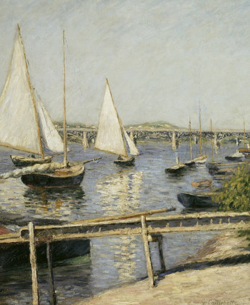 Painting - Sailing Boats At Argenteuil by Gustave Caillebotte