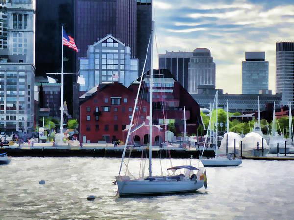Postmark Painting - Sailing by Jeelan Clark