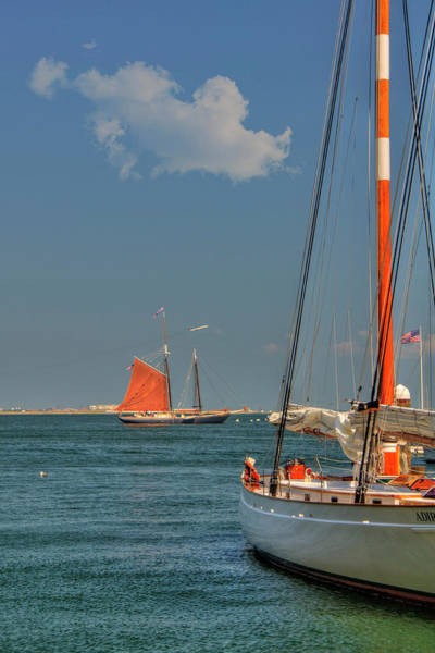 Photograph - Sailing On Boston Harbor by Joann Vitali