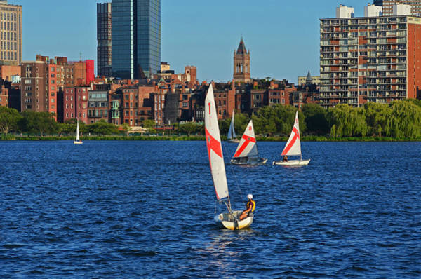 Photograph - Sailing The Charles River Boston Ma by Toby McGuire