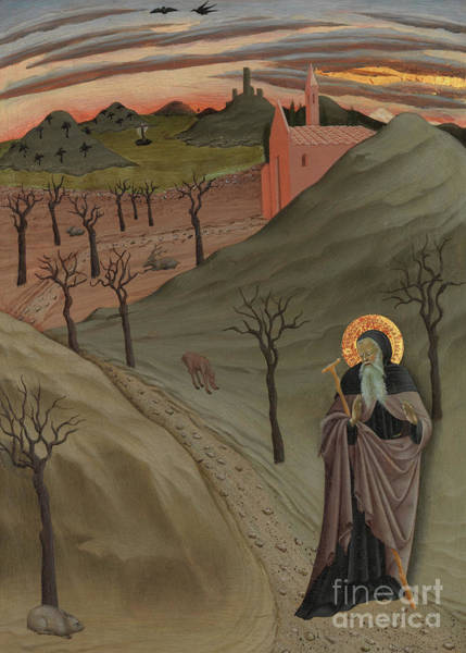 Wall Art - Painting - Saint Anthony The Abbot In The Wilderness by Master of the Osservanza