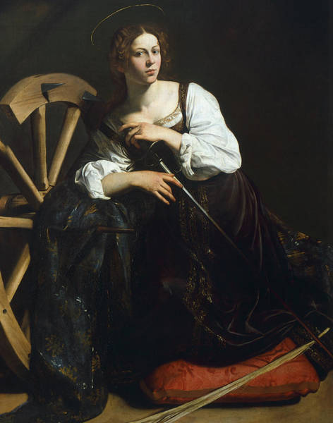 Wall Art - Painting - Saint Catherine Of Alexandria by Caravaggio