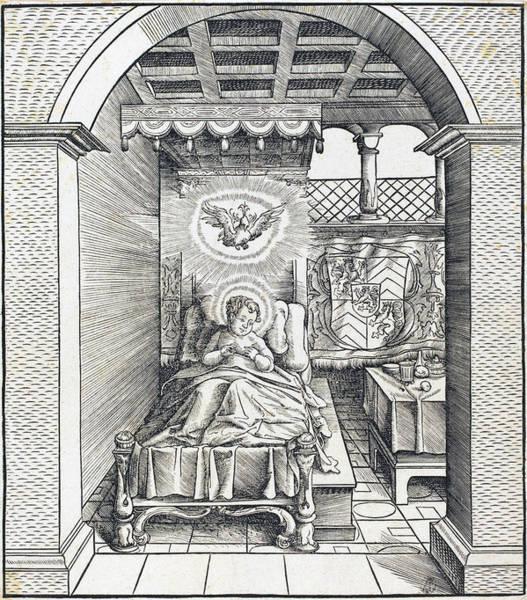Drawing - Saint Dentalinus by Leonhard Beck