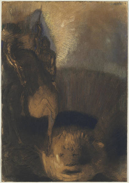 Painting - Saint George And The Dragon by Odilon Redon