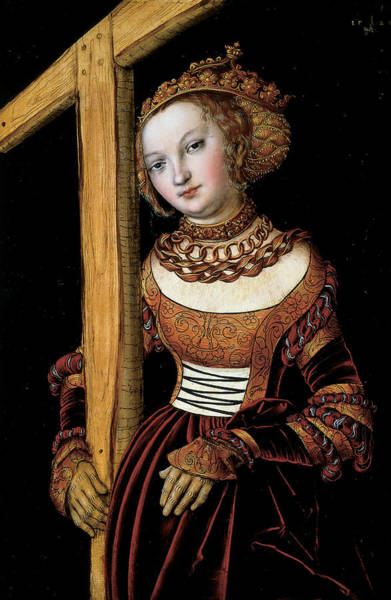 16th Century Wall Art - Painting - Saint Helena With The Cross by Lucas Cranach the Elder