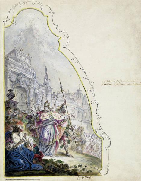 Painting - Saint Ignatius Leaving Antioch by Johann Baptist Enderle