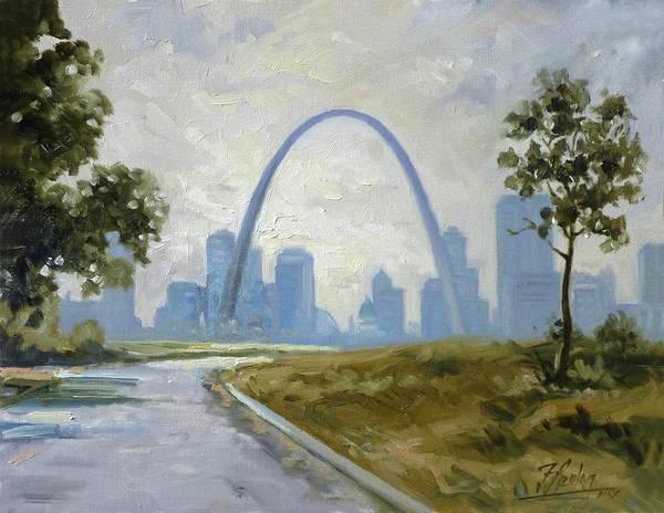 St Louis Arch Painting - Saint Louis Panorama by Irek Szelag