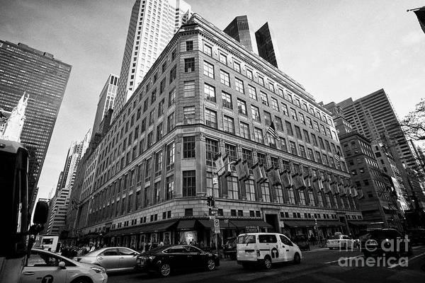 Wall Art - Photograph - saks fifth avenue luxury department store New York City USA by Joe Fox