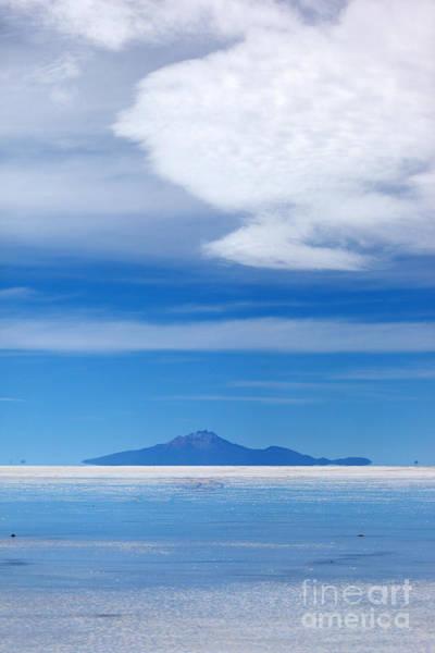 Photograph - Salar De Uyuni And Tunupa Volcano by James Brunker