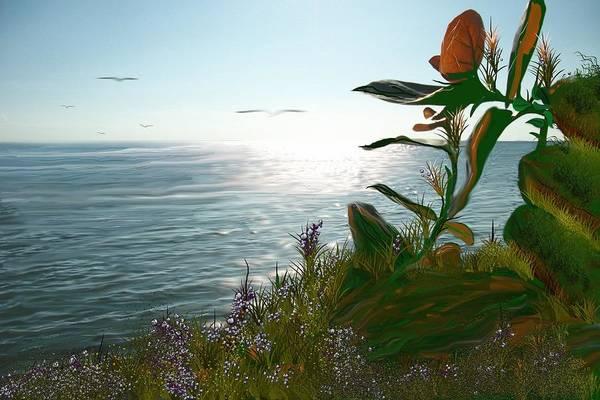 Digital Art - Salinas Seascape by Tony Rodriguez