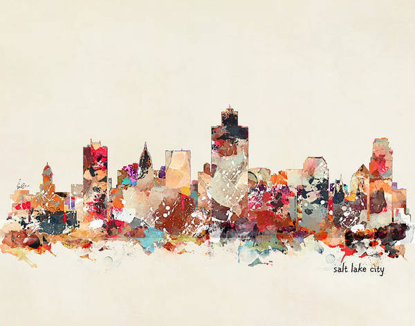Salt Lake City Utah  Art Print