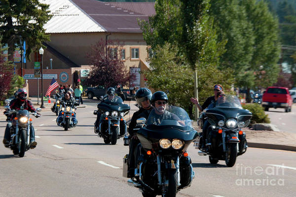 Photograph - Salute To Veterans Bike Rally by Steve Krull