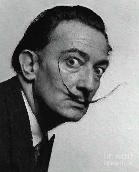 Dali Digital Art - Salvador Dali, Artist by Mary Bassett