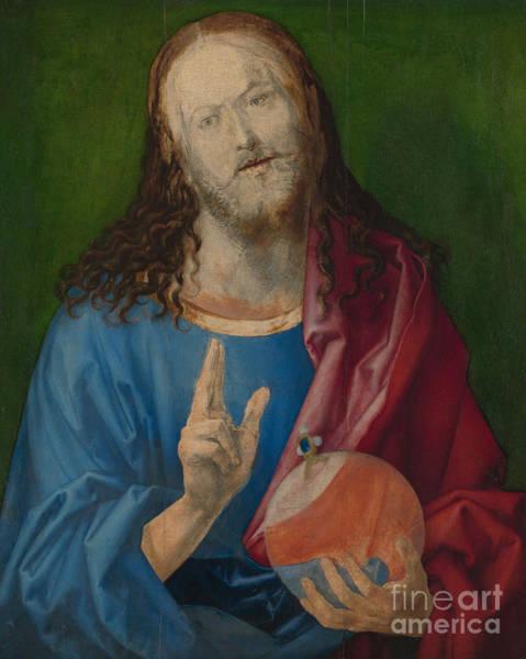 Albrecht Durer Wall Art - Painting - Salvator Mundi by Albrecht Durer