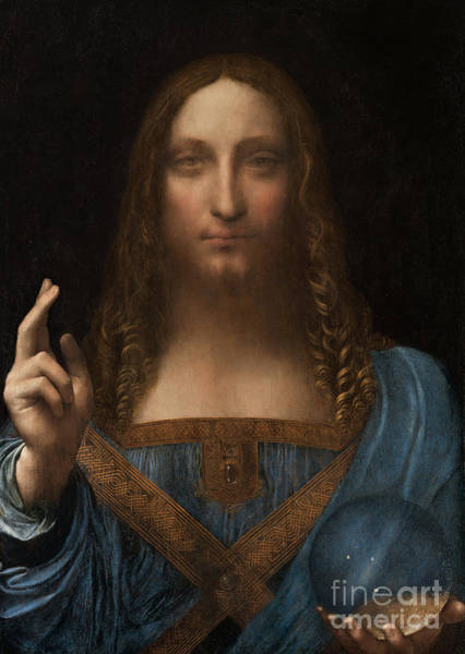 Wall Art - Painting - Salvator Mundi by Leonardo da Vinci