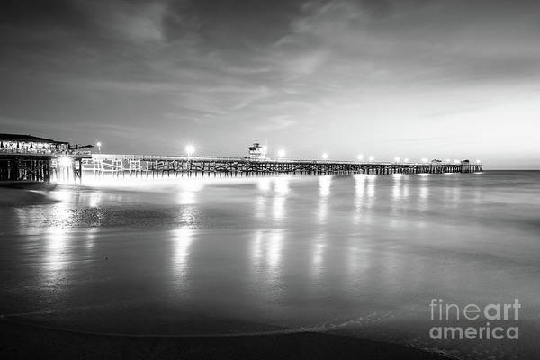 2017 Photograph - San Clemente Pier Black And White Picture by Paul Velgos