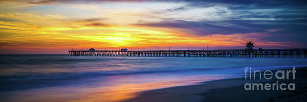 Clemente Photograph - San Clemente Pier Sunset Panorama Photo by Paul Velgos