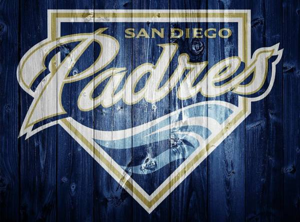 Digital Art - San Diego Padres Barn Door by Dan Sproul