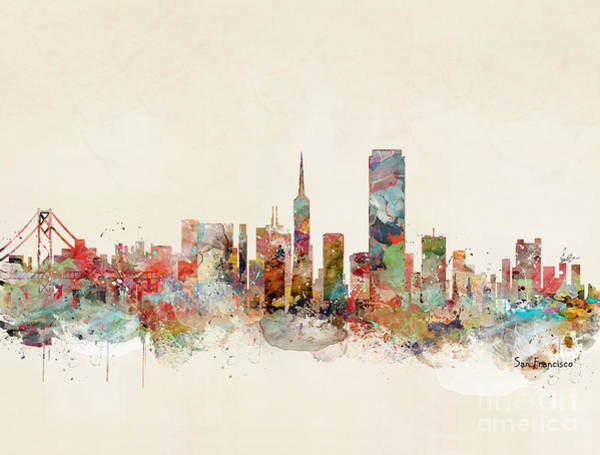 Office Decor Painting - San Francisco California by Bri Buckley
