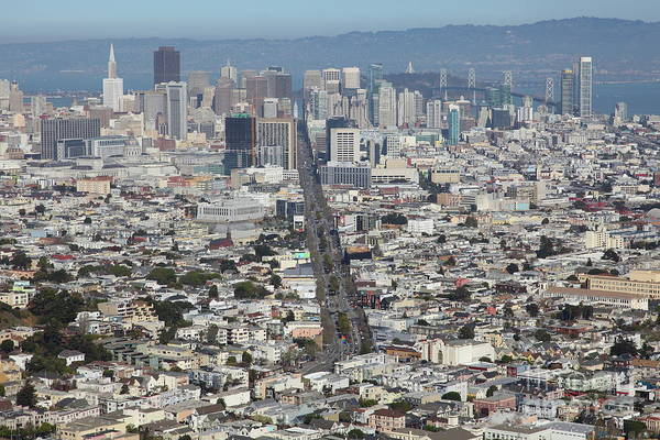 Photograph - San Francisco California From Twin Peaks 5d28037 by San Francisco Art and Photography