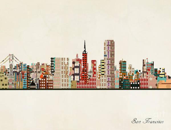 San Francisco Skyline Wall Art - Painting - San Francisco Skyline by Bri Buckley