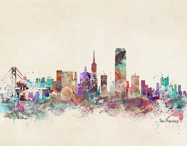 Wall Art - Painting - San Francisco Skyline by Bri Buckley