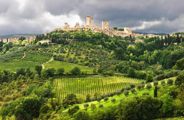 Tuscany Vineyards Wall Art - Photograph - San Gimignano Tuscany Italy by Carl Amoth