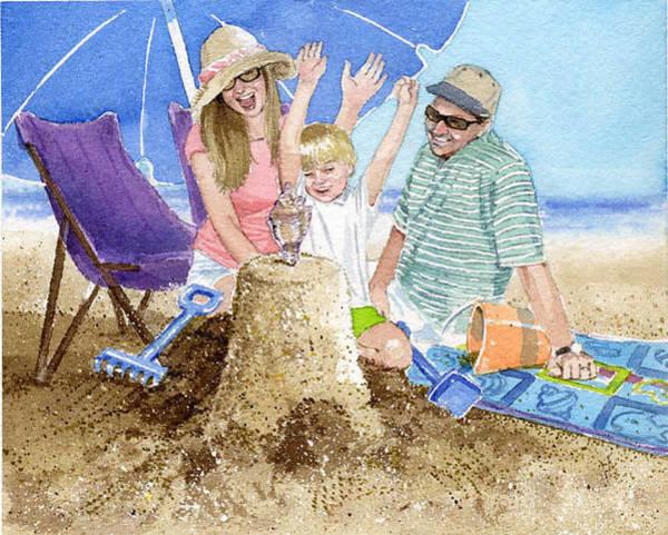 Sand Castle Painting - Sand Castle by Denny Bond