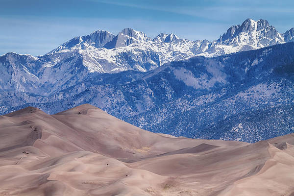 Photograph - Sand Dunes And Rocky Mountains by James BO Insogna