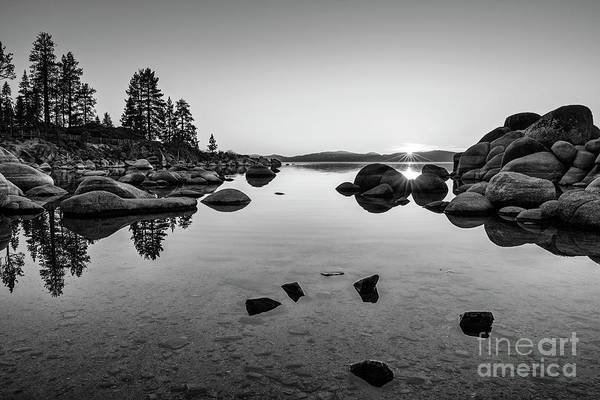 Wall Art - Photograph - Sand Harbor Sunset by Jamie Pham