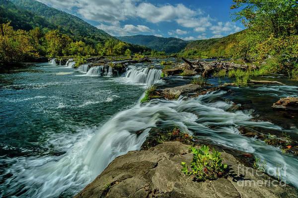 Wall Art - Photograph - Sandstone Falls New River by Thomas R Fletcher