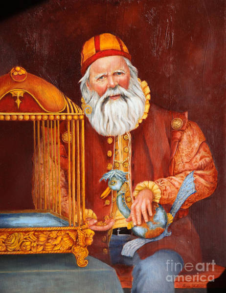 Wall Art - Painting - Santa by Portraits By NC