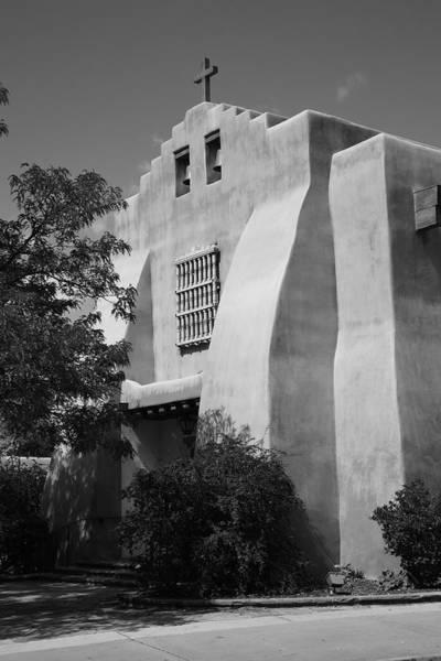 Photograph - Santa Fe - Adobe Church by Frank Romeo