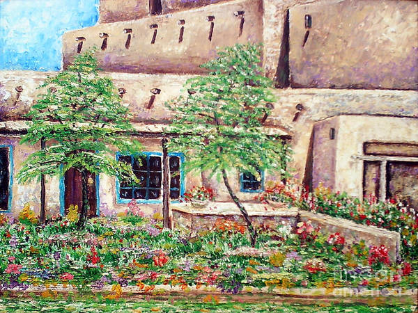 Painting - Santa Fe Welcome by Santiago Chavez