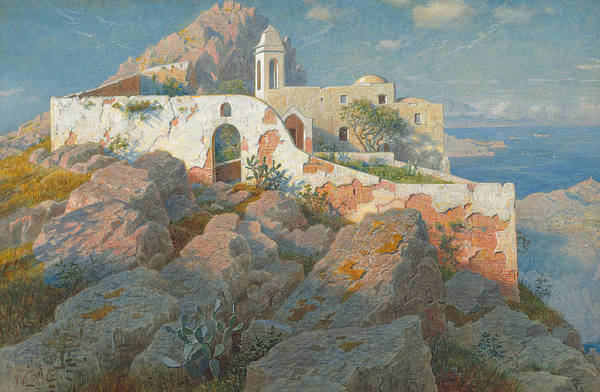 Maria Island Wall Art - Painting - Santa Maria A Cetrella  Anacapri by William Stanley Haseltine